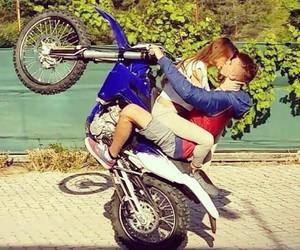 bike, couple, and moto image
