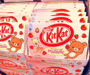 kitkat, kawaii, and strawberry image