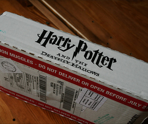 harry potter, box, and deathly hallows image