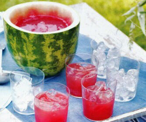 watermelon, drink, and summer image