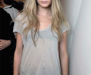 blond, hair, and cara delvigne image