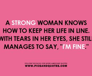 woman, strong, and tears image