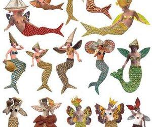 art, mermaid, and mermaids image
