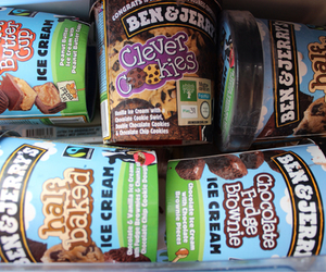 ice cream, food, and ben & jerry's image