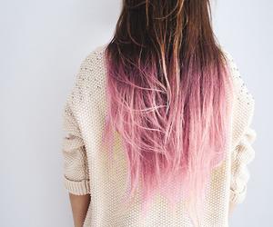 brunette, pink, and stylish image