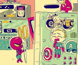 Avengers, spiderman, and steve rogers image
