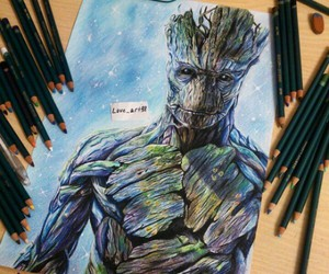 drawing, groot, and beautiful ♡ image