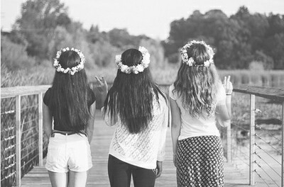 b&w, beautiful, and best friends image