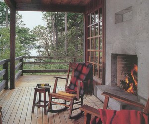 chair, fireplace, and relax image