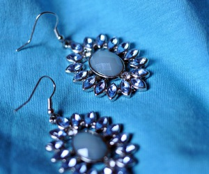 accessories, blue, and earrings image