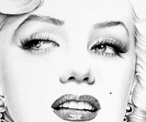 black, Marilyn Monroe, and sexy image