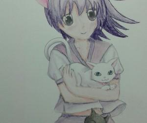 dessin, cat, and manga image