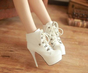 high-heels, white, and cute image