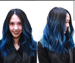 blue, crazy, and hair image
