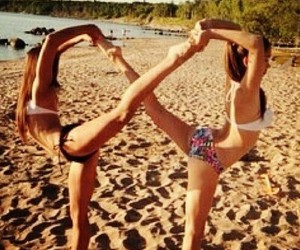 beach, infinity, and friends image