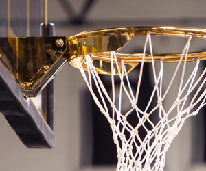 Basketball, gold, and basket image