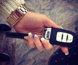 audi, nails, and car image