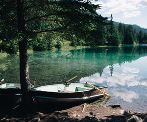 nature, boat, and lake image