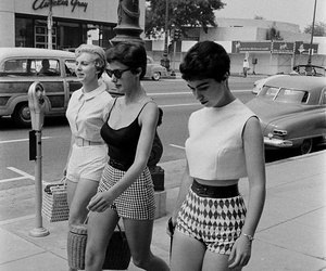 vintage, 50s, and black and white image