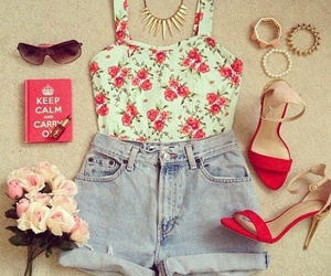 cropped, fashion, and flowers image