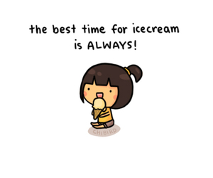 ice cream, chibird, and always image
