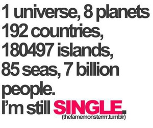 single, people, and universe image