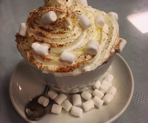 marshmallows, coffee, and drink image