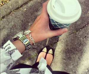 black, coffee, and shoes image