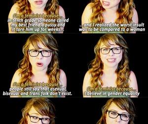 feminist, true, and tumblr image