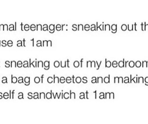 funny, teenager, and food image