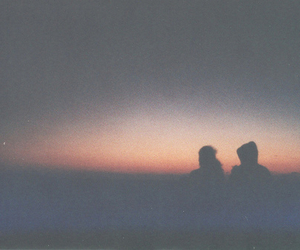 sunset, hipster, and love image