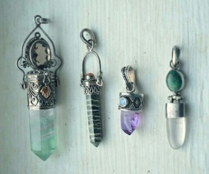 crystal, grunge, and necklace image