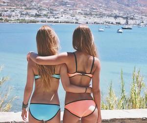 bikini, nature, and outside image