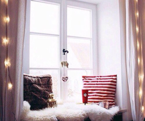 bedroom, decor, and heart image