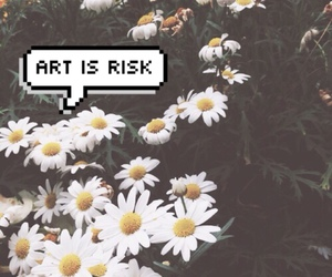 art, flowers, and overlay image