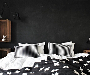 bed, home, and black image