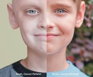cancer, boy, and survivor image