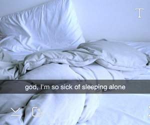 alone, sleep, and bed image
