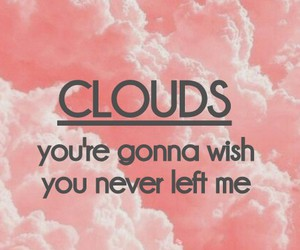 Lyrics, clouds, and one direction image