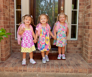 adorable, girls, and triplets image
