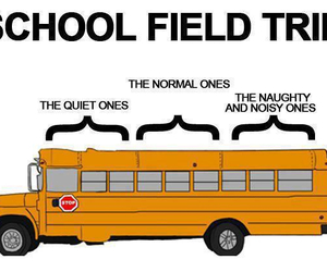 school, bus, and funny image