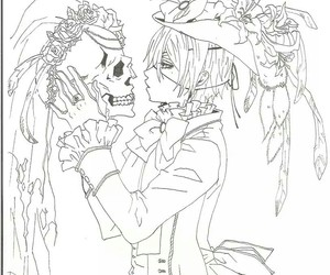 art, black butler, and drawing image