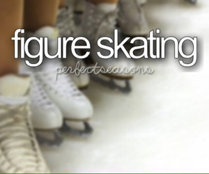 figure skating, winter, and skate image