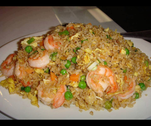 chinese, food, and shrimp fried rice image
