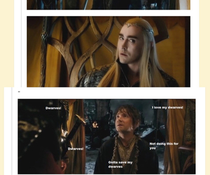 the hobbit, barr, and thranduil image