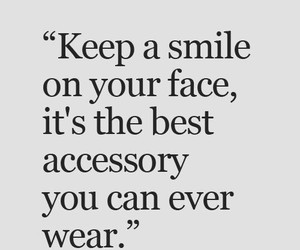 smile, accessory, and quote image