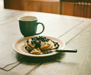 breakfast, caffe, and pancakes image