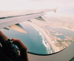 girl, plane, and summer image