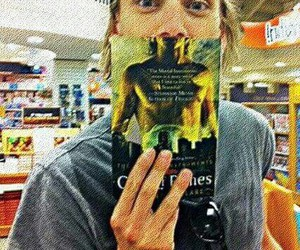 Jamie Campbell Bower, city of bones, and book image