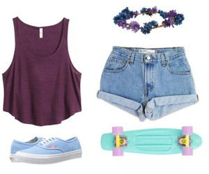 fashion, outfit, and floral headband image